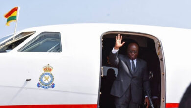 Photo of Akufo-Addo leaves for Paris